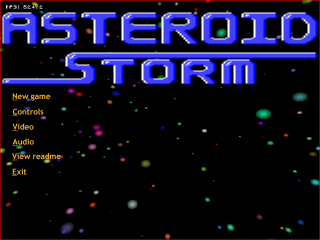 Asteroid Storm title screen